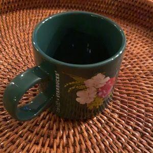 Starbucks Ban.do 2018 Ceramic Green Floral Mug